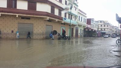 """القصر الكبير تحت رحمة الفيضانات """" ألبوم صور"""""""