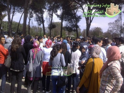 طلبة العرائش ينظمون مسيرة لعمالة العرائش