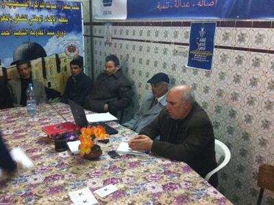 الاتحاد الوطني للشغل بالمغرب فرع القصر الكبير يعقد لقاء تواصليا مع عمال شركة النظافة S O S