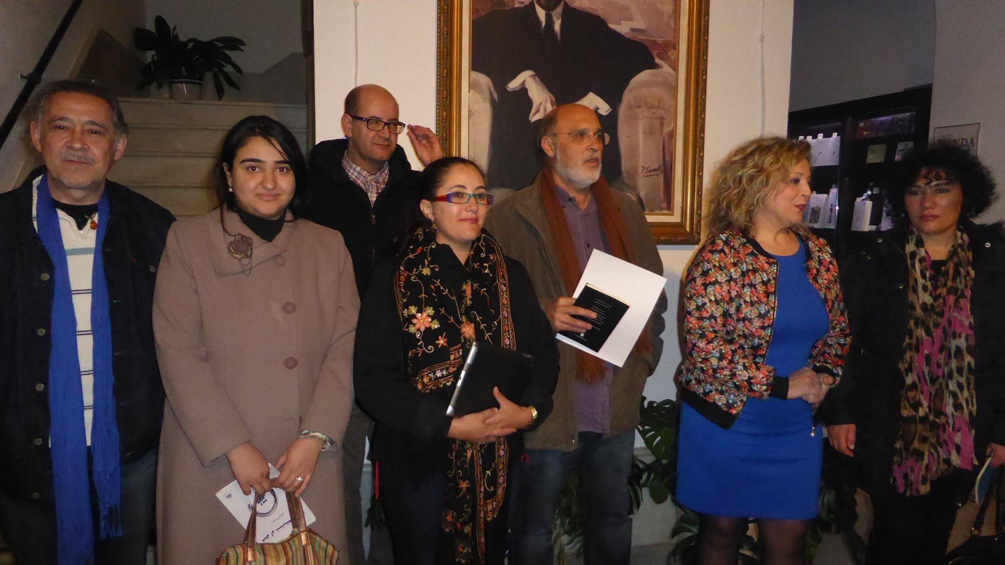 """الشاعرة و الفنانة المغربية الشاوي بشرائيل في الملتقى الاول للشعر العربي الأندلسي ب""""موغر"""" باسبانيا"""