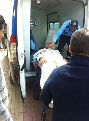 إصابة ستيني في الرأس بعد أن صدمته شاحنة