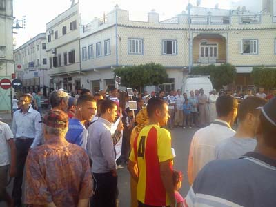 لجنة دعم المعتقل أسامة بنمسعود تحتج و تدعوا إلى قافلة جهوية يوم المحاكمة