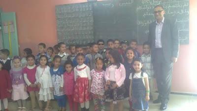 براعم جمعية المبادرة في زيارة لمدرسة علال بن عبد الله الابتدائية بالقصر الكبير