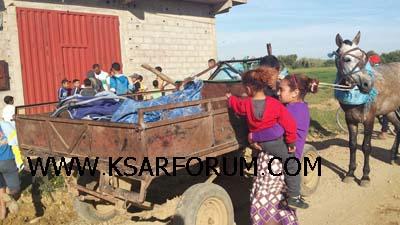 """عاجل : قتيلة و أربعة جرحى في حادث انقلاب """" كارو """" بأولاد أوشيح"""