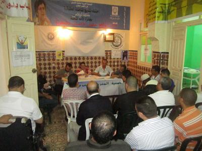 تجديد المكتب المحلي للجمعية المغربية لحقوق الانسان بالقصر الكبير