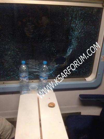 إصابة سيدة بجروح بسبب رشق القطار بالحجارة من طرف مجهولين