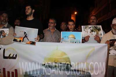 وقفة تضامنية لدعم القضية الفلسطينية بساحة علال بن عبد الله