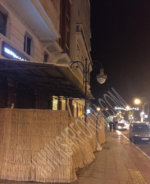 مقهى محمد الخامس بالعرائش .. مضوي على السقف