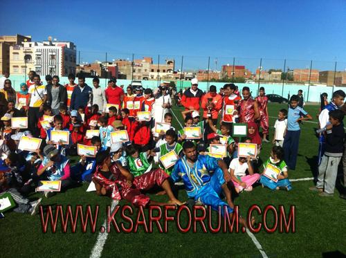 جمعية أجيال لألعاب القوى للأطفال تحتفي بالذكرى اللأربعين للمسيرة الخضراء بملعب دار الدخان