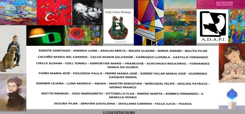 """الفنانة المغربية الشاوي بشرائيل تشارك في معرض دولي """"من أجل السلام"""" بستوكهولم"""