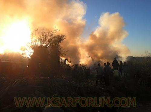 حريق بالسلالي كاد يأتي على الأخضر و اليابس و أصابع الاتهام تشير لمنحرفين