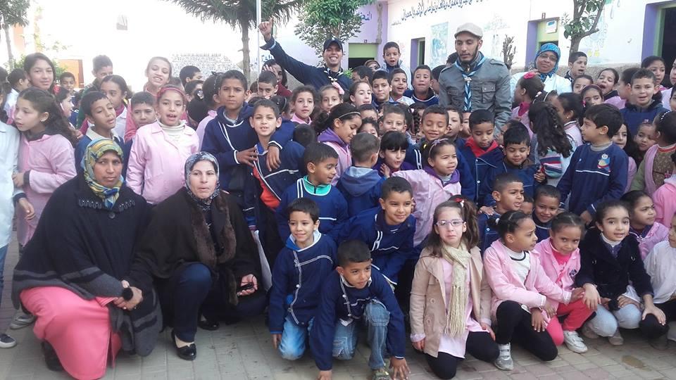 يوم تنشيطي لفائدة تلاميذ مدرسة السدراوي من قبل فرع الكشفية الحسنية المغربية بالمدينة
