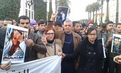 مشاركة قصرية في وقفة أمام البرلمان للتضامن مع الأساتذة المتدربين