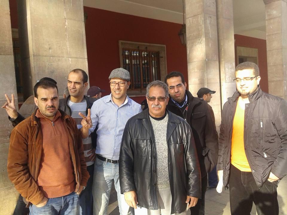 فعاليات مدنية قصرية تشارك في مسيرة الأساتذة المتدربين بالرباط..