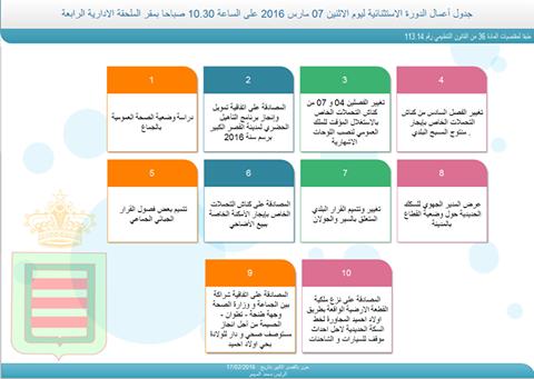 المجلس البلدي يعقد دورة استثنائية بداية مارس و هذا جدول أعمالها