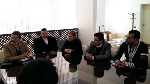 """السيمو يستقبل ممثلي """" لاناپيك """" و يسلمهم المقر الجديد للوكالة"""