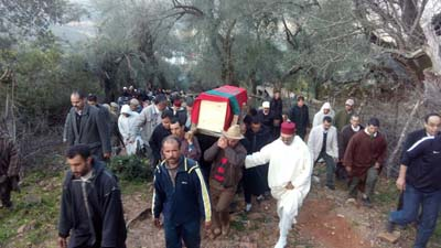 تشييع رسمي لجنازة ضحية مسيرة نداء الوطن ضد تصريحات بان كي مون