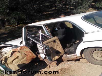 الزوادة: حادثة سير مروعة بين طاكسي و سيارة مخصصة للتهريب هذه هي تفاصيلها