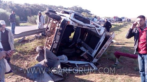 السواكن : 17 مصابا في انقلاب سيارة كانت متوجهة للرباط