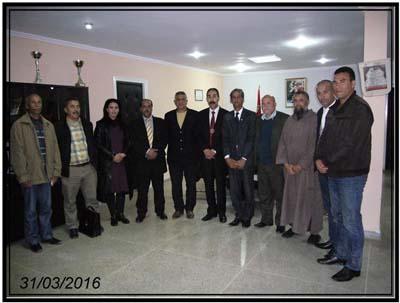 المكتب المديري للفرع الإقليمي للجامعة الملكية المغربية للرياضة المدرسية بالعرائش يتم هيكلته التنظيمية