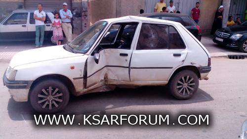 القصر الكبير: حادث سير بين دراجة نارية و سيارة يخلف جريحا في حالة خطيرة