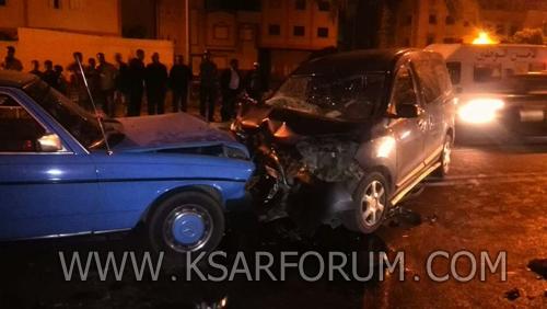 اصطدام ثلاث سيارات بطريق العرائش يخلف ثمانية ضحايا