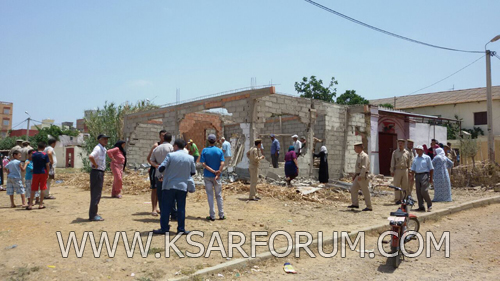 السلطات تهدم منزل بحي السلالين شيد بطريقة عشوائية