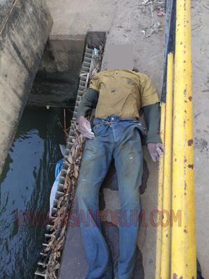 انتشال جثة شخص غرق بقناة الزوادة
