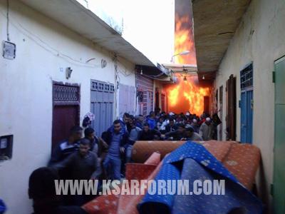 عاجل : حريق مهول بأحد المخازن بالقصر الكبير يخلف خسائر فادحة ( صور حصرية )