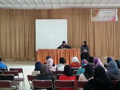 نادي القرآن الكريم والسيرة النبوية بالثانوية التأهيلية المحمدية بالقصر الكبير يجري إقصائيات مسابقة تجويد القرآن الكريم.