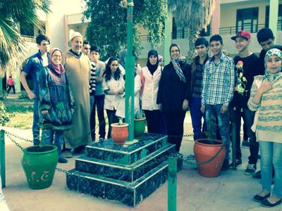 الثانوية التأهيلية أحمد الراشدي تحتفي بيوم الأرض