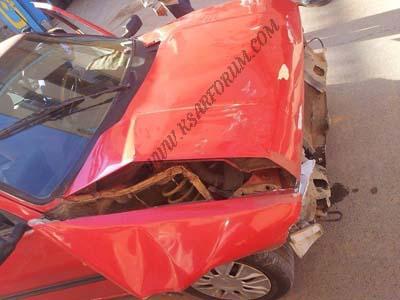 حادث سير بالقرب من مقهى الشارقة يلحق خسائر جسيمة بسيارتي أجرة