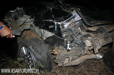 عاجل: حادثة سير بالقرب من قنطرة واد اللوكوس و فرار مستقلي السيارة