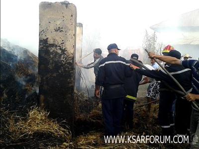 بوجديان : الوقاية المدنية تسيطر على حريق مهول بدوار أهل الما