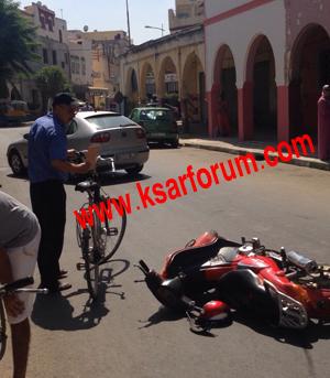 إصابة شخصين في حادث سير سببه سائق متهور لا يتوفر على رخصة سياقة