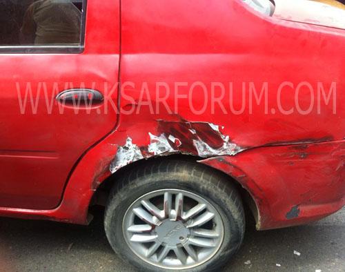 التهور يتسبب في حادث سير بين شاحنة و طاكسي صغير بمحيط سوق سبتة