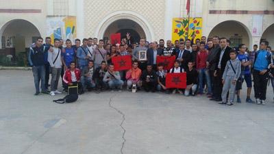 نادي الثقافة والفن بثانوية وادي المخازن يحيي ذكرى المسيرة الخضراء