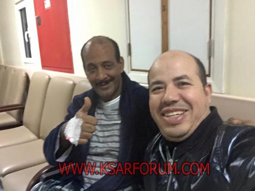 الفنان حميد القصري يجري عملية جراحية و يتمثال للشفاء بعد حادثة السير