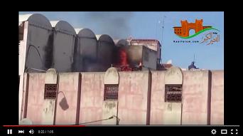 حريق بسطح سوق الحنة