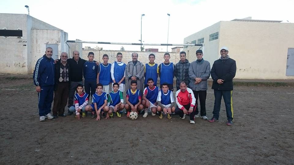 يوميات البطولة المحلية للرياضات الجماعية المدرسية صنف كرة القدم بالقصر الكبير