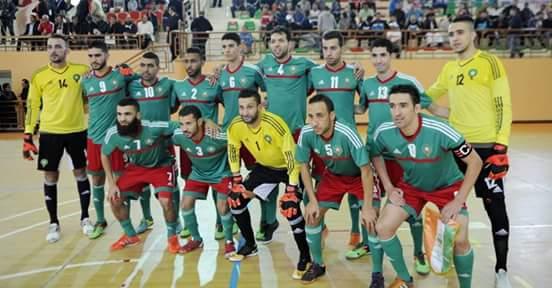 نادي لكوس القصر الكبير يواجه المنتخب الوطني لكرة القدم المصغرة في مقابلة إعدادية