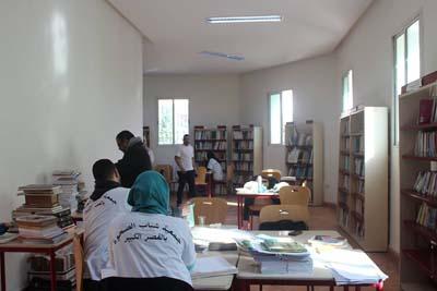 """جمعية شباب الصحوة تختتم حملة """"تبرع بكتاب"""" لمكتبة المركز الثقافي بجمعها لأزيد من 450 كتاب.."""