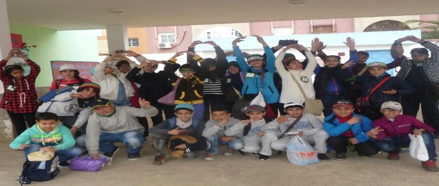 نادي البيئة والتنمية لمدرسة معاذ بن جبل يحتفل باليوم العالمي للارض