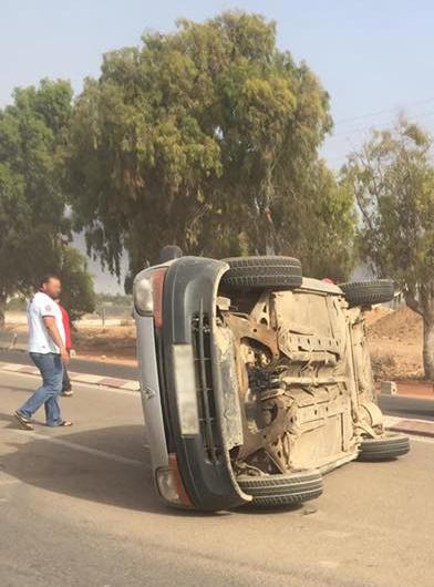 السواكن : اصطدام سيارة و عربة مجرورة يخلف إصابة سيدة بكسور
