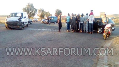 السرعة تتسبب في حادث سير بمدخل المدينة قبيل المغرب