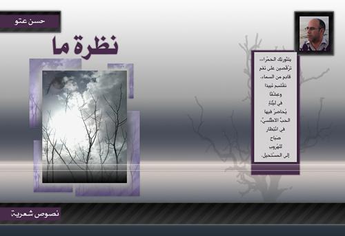 """""""نظرة ما """" إصدار جديد للشاعر المغربي حسن عتو"""