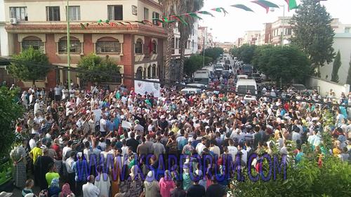 """المئات من قصراوة يخرجون للشارع احتجاجا على """" انعدام الأمن """""""