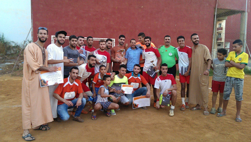منظمة الشبيبة الدستورية بالقصر الكبير : ختام فعاليات دوري رمضان الاول لكرة القدم المصغرة